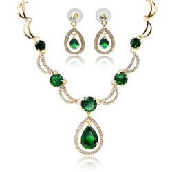 Diamante European Necklace Gift Jewelry Sets