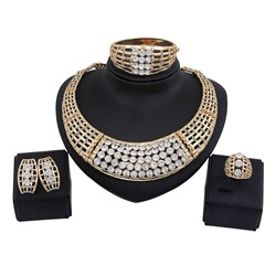 Diamante European Plain Prom Jewelry Sets