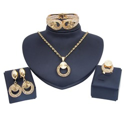 Plain E-Plating European Prom Jewelry Sets
