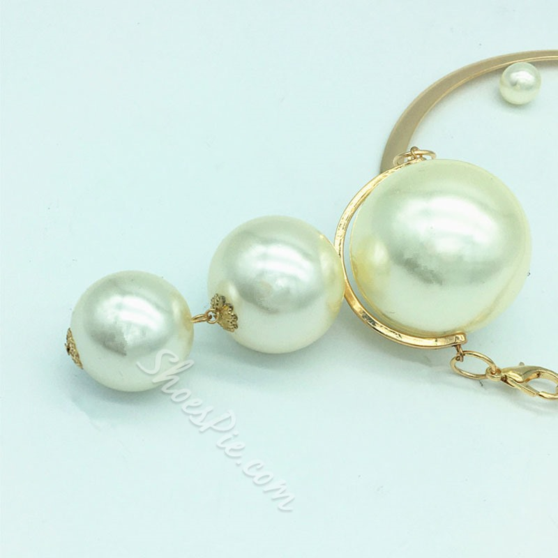 European Earrings Pearl Inlaid Anniversary Jewelry Sets