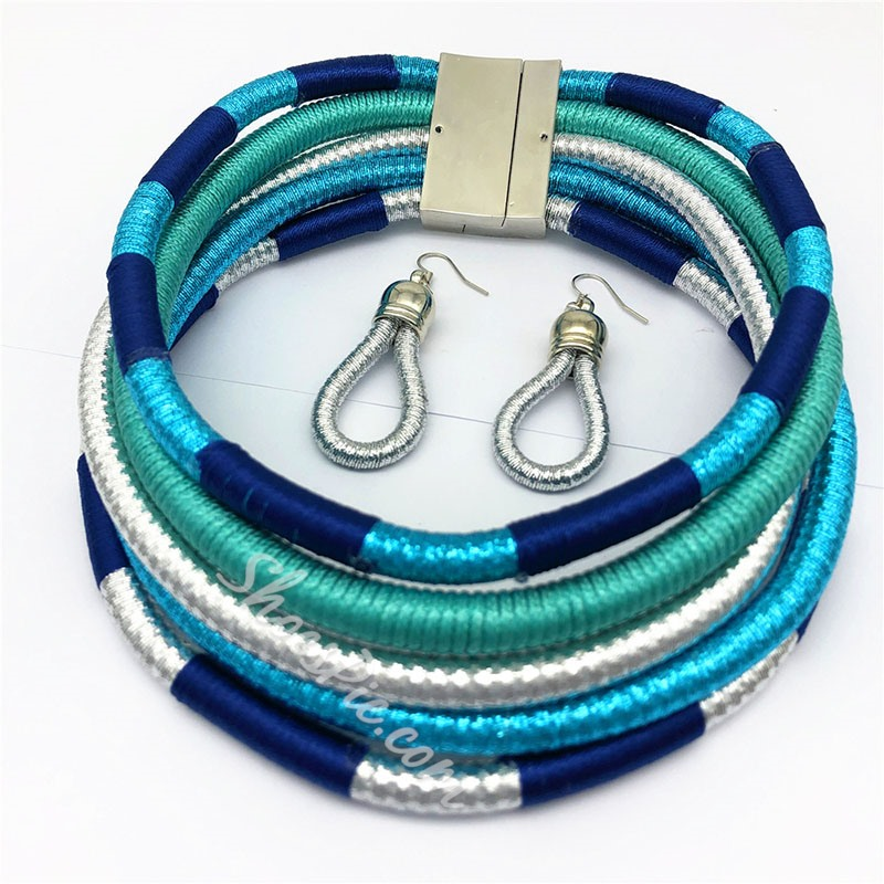 Color Block E-Plating Party Jewelry Sets