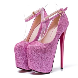 Shoespie Glitter Platform High Heel Pumps