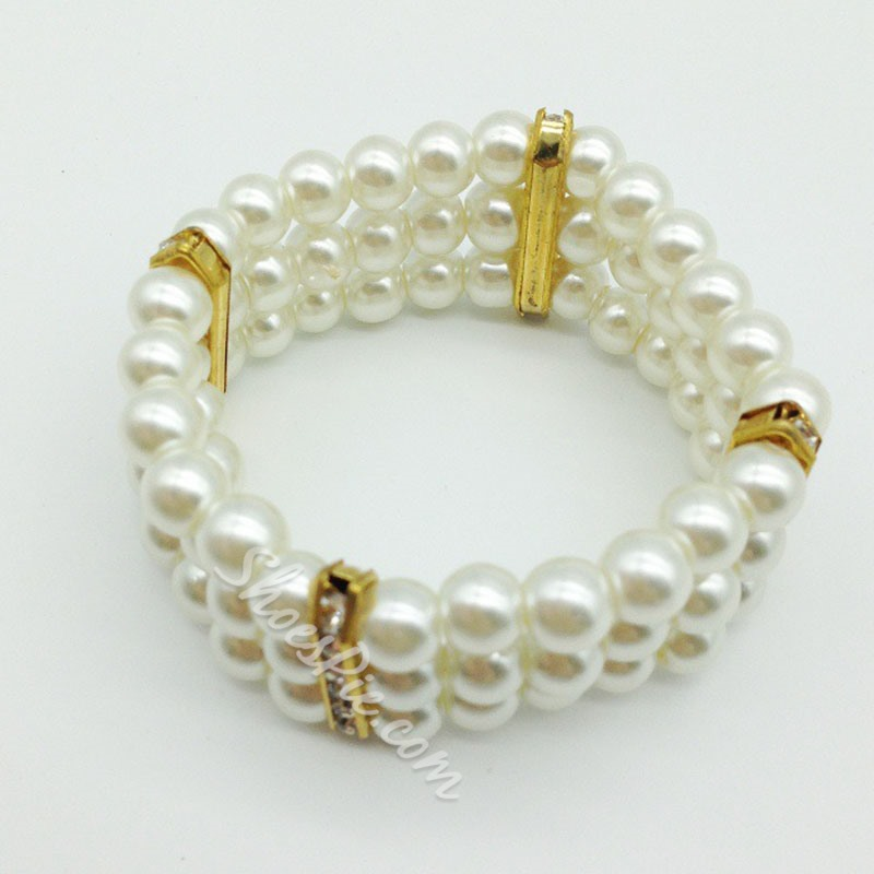 Bridal Gift Elegant Pearl Beading Party Jewelry Set
