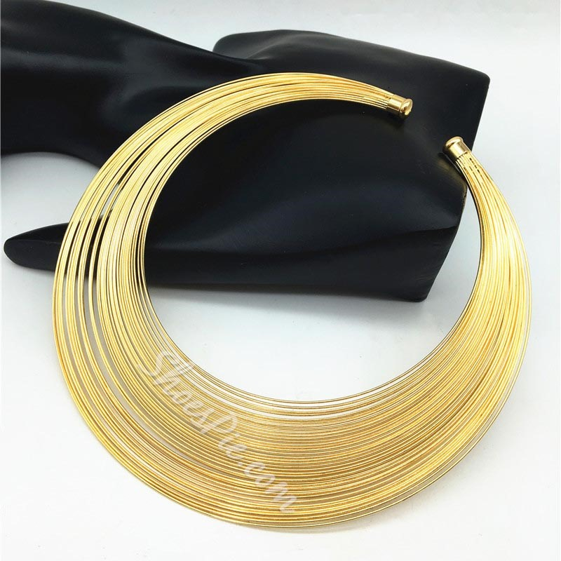 Plain E-Plating Choker Necklace Female Necklaces