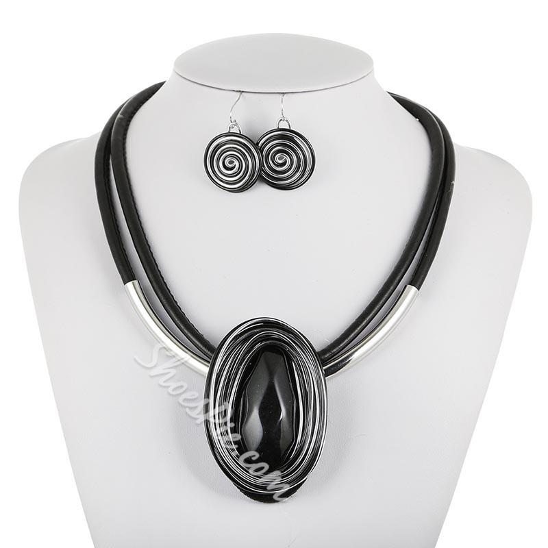 Gemmed Necklace European Party Jewelry Sets