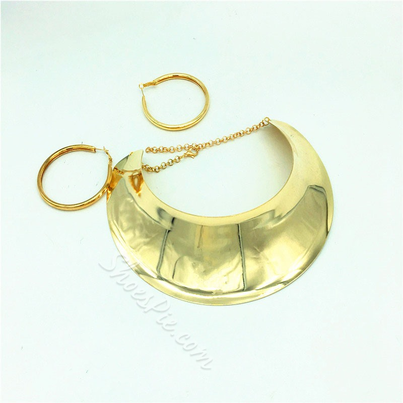 Necklace Plain E-Plating Anniversary Jewelry Sets