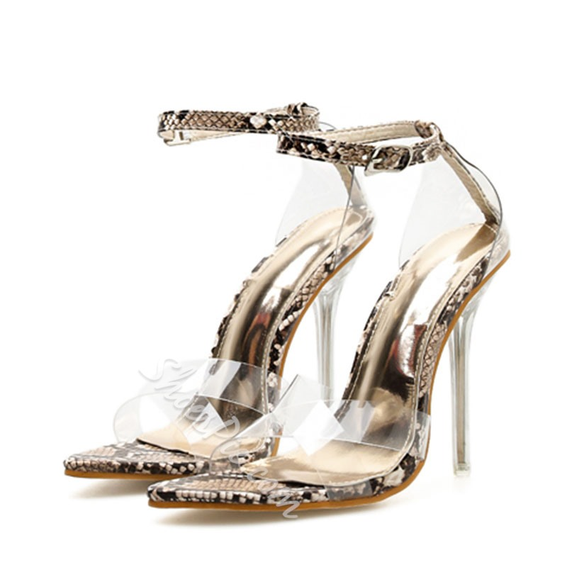 Shoespie Sexy Clear Stiletto Heel Sandals