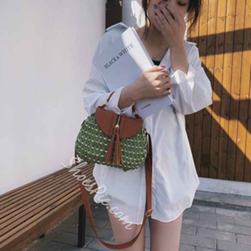 Shoespie Knitted Grass Tote Bags