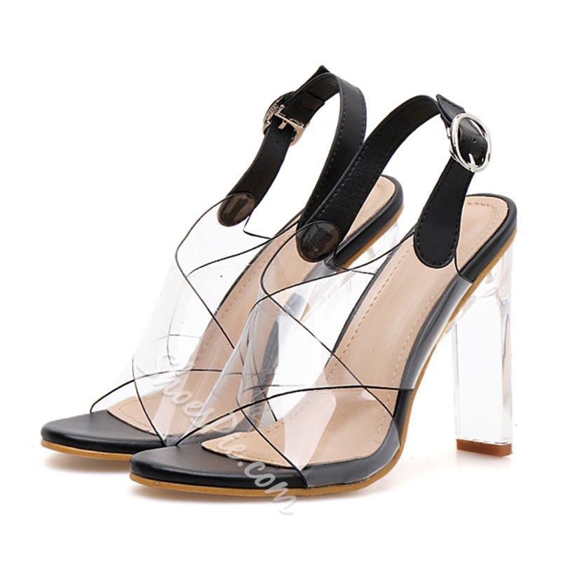 Shoespie Slingback Jelly Buckle Sandals