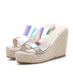 Shoespie Summer Platform Wedge Heel Slippers