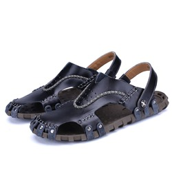Shoespie Men's Backless Hollow Sandals