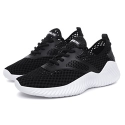 Shoespie Black Men's Casual Mesh Sneakers