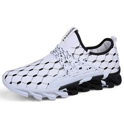 Shoespie Men's Sports Lace-Up Round Toe Sneakers