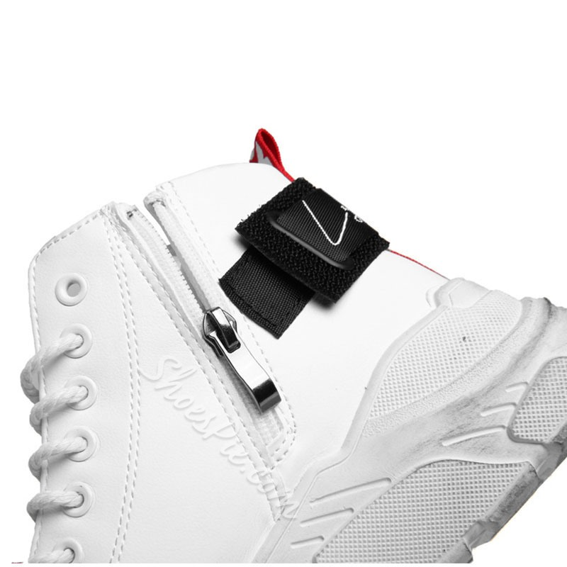 Shoespie High-Cut Men's Lace-Up Sports Round Toe Sneakers