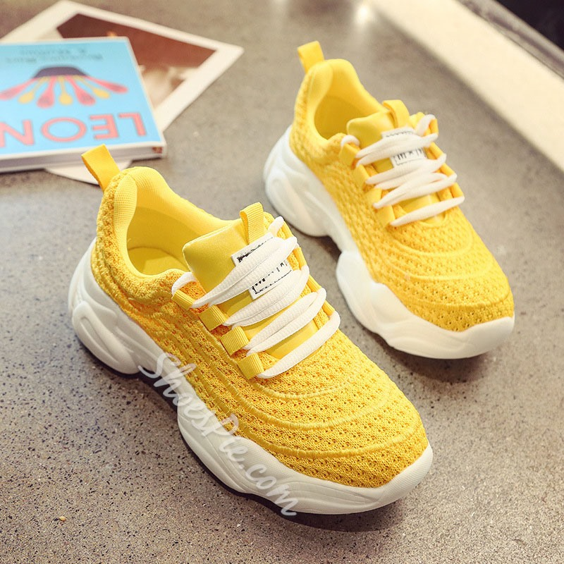 Shoespie Mesh Chunky Sneakers