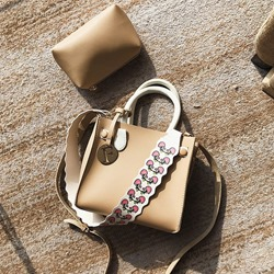 Shoespie Thread PU Tote Two Bags Set