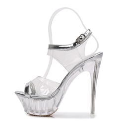 Shoespie Clear Jelly Platform Stiletto Heel Sandals