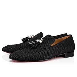 Shoespie Men's Tassel Black Oxford Shoes