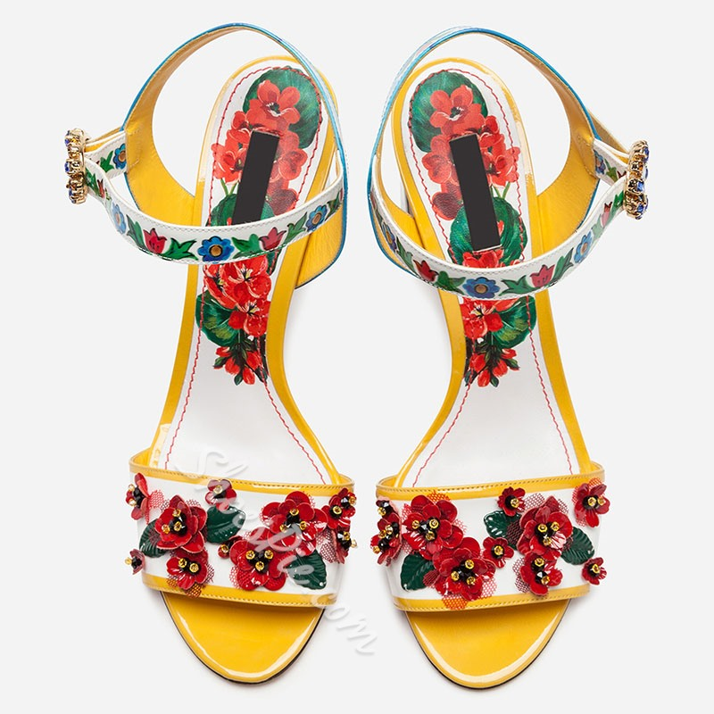 Shoespie Stylish Ankle Strap Buckle Chunky Heel Vintage Sandals