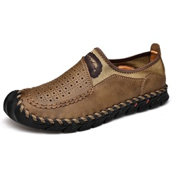Shoespie Color Block Men's Hollow Loafers