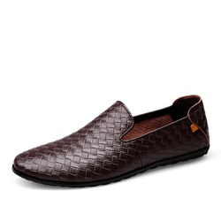 Shoespie Men's Plain Flat Slip On Loafers