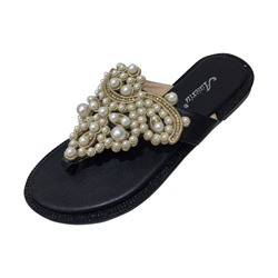 Shoespie Beaded Thong Casual Slippers