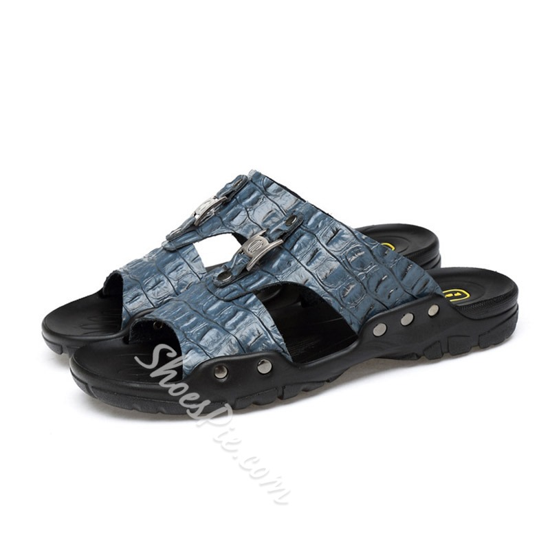 Shoespie Men's Hollow Casual Slippers