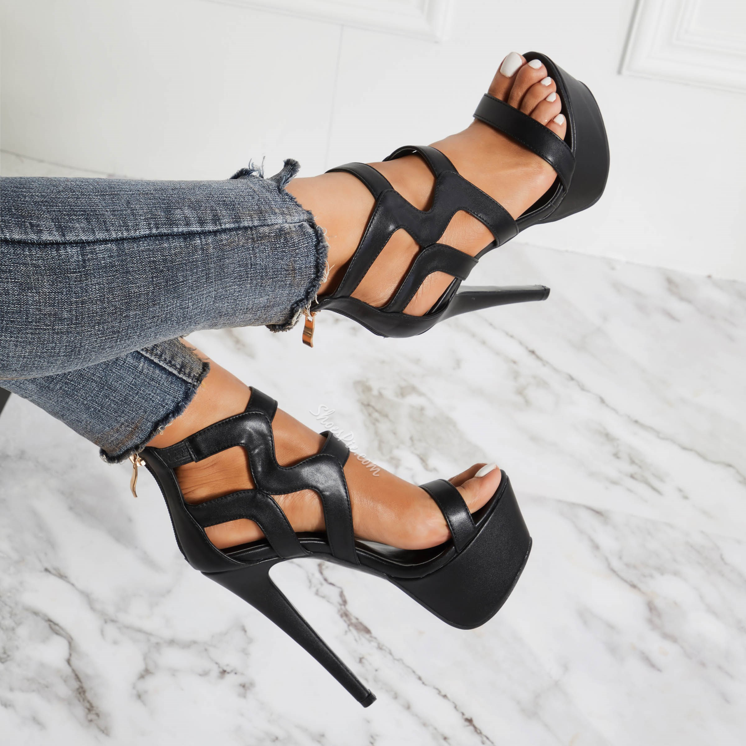 Shoespie Sexy High Stiletto Heel Platform Open Toe Sandals