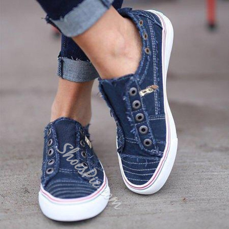 Shoespie Canvas Large Size Casual Flat Sneakers