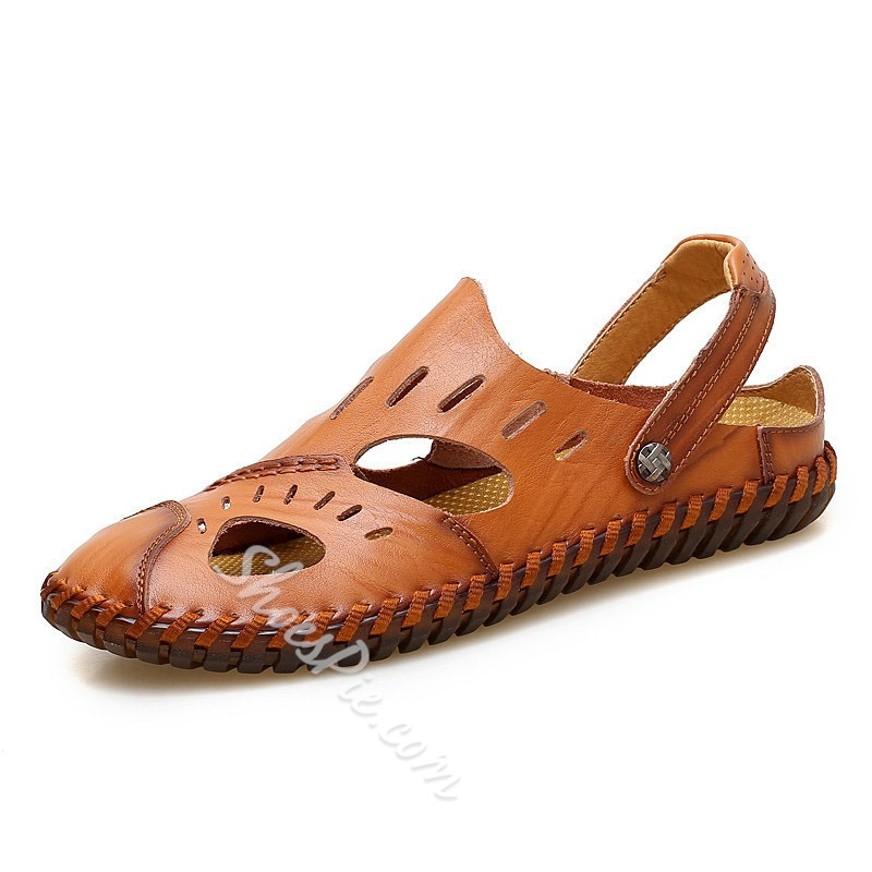 Shoespie Men's Backless Hollow Casual Sandals