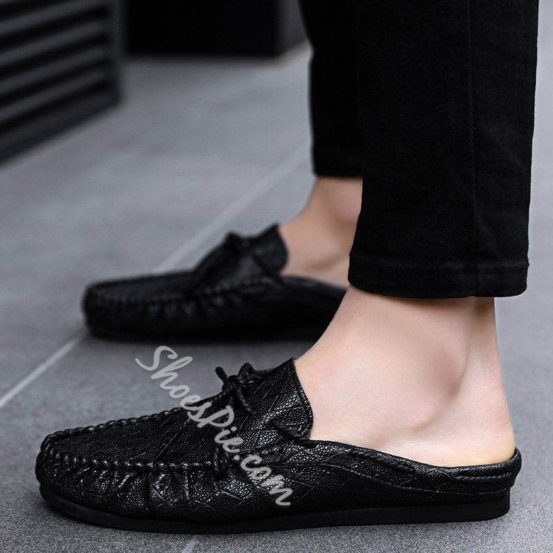 Shoespie Backless Casual Men's Slippers