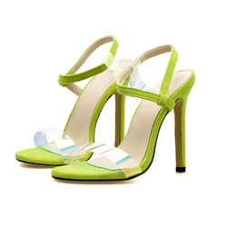 Shoespie Jelly Ankle Strap Stiletto Heel Sandals