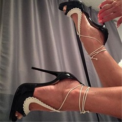 Shoespie Strappy Peep Toe Stiletto Heels