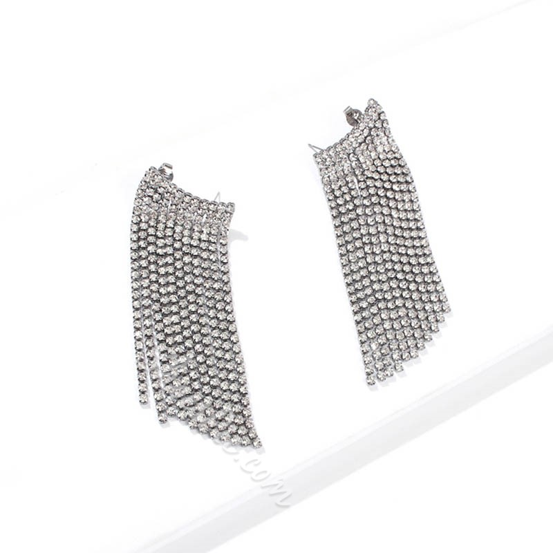 Plain European Alloy Anniversary Earrings