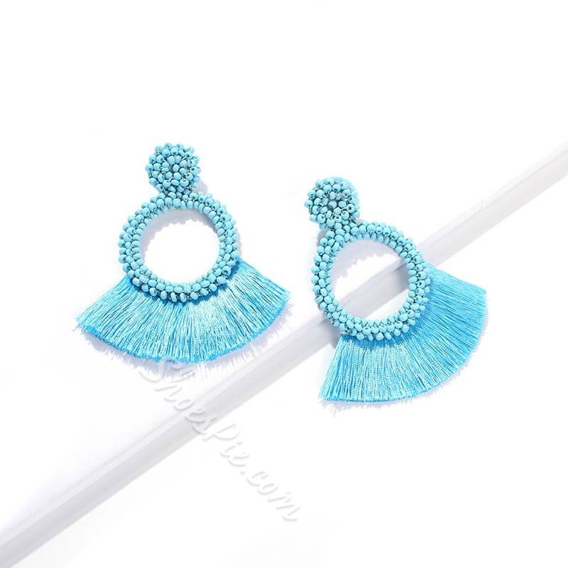 Plain European Plastic Wedding Earrings