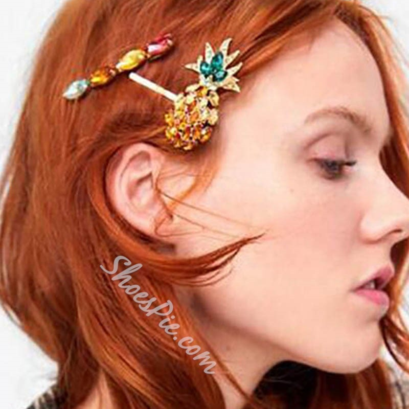 Hairpin Crystal Inlaid Sweet Party Hair Accessories