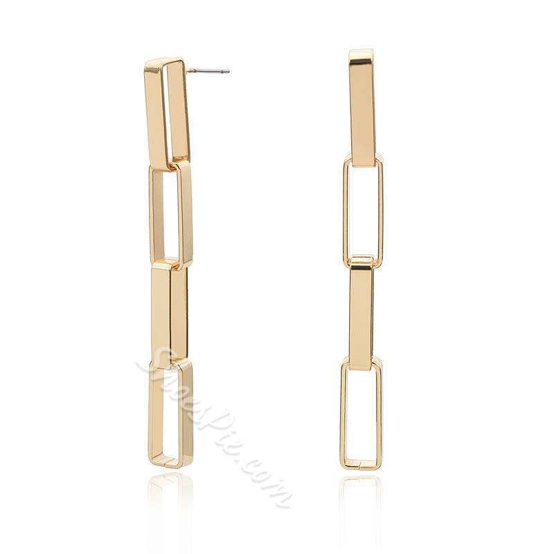 Vintage Plain Alloy Party Earrings