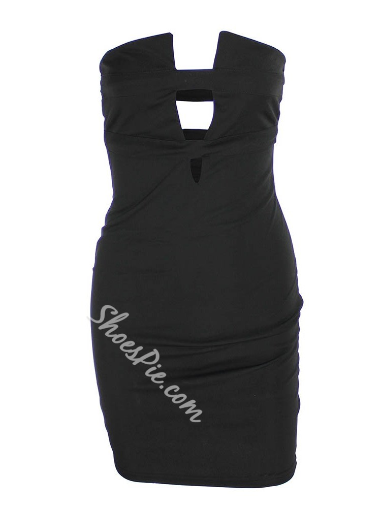 Hollow Above Knee Sleeveless Women's Dress