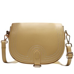 Shoespie Soft Thread PU Plain Crossbody Bag