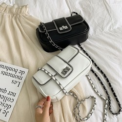Shoespie Chain Plain PU Crossbody Bags