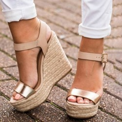 Shoespie Buckle Ankle Strap Open Toe Casual Sandals
