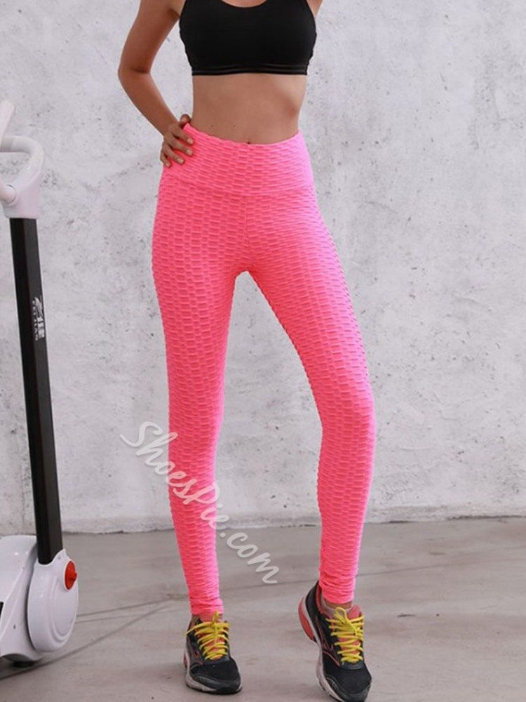 Solid Breathable Polyester Fall Female Pants