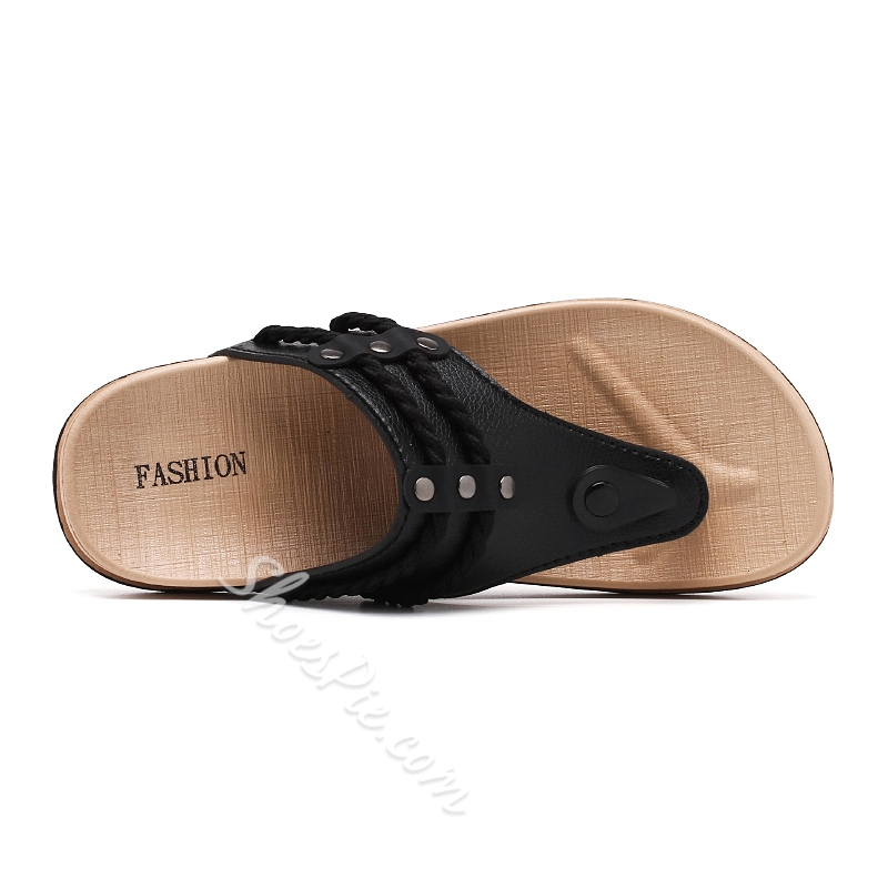Shoespie Men's Casual Summer Flat Flip Flops