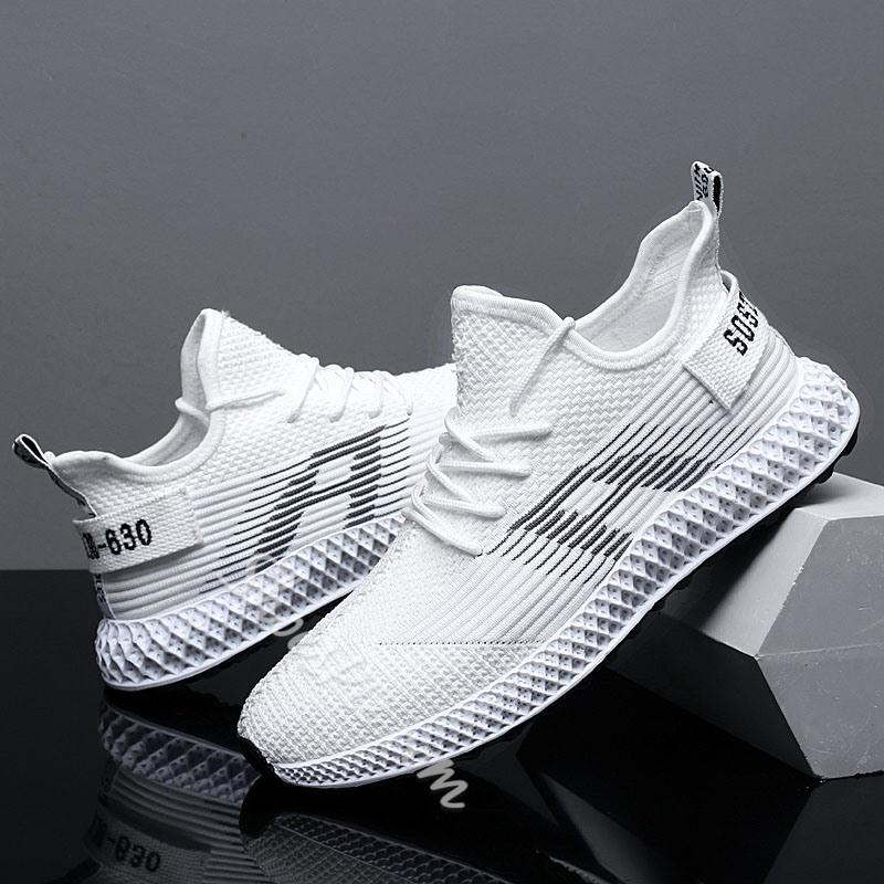 Shoespie Sports Lace-Up Round Toe Men's Sneakers