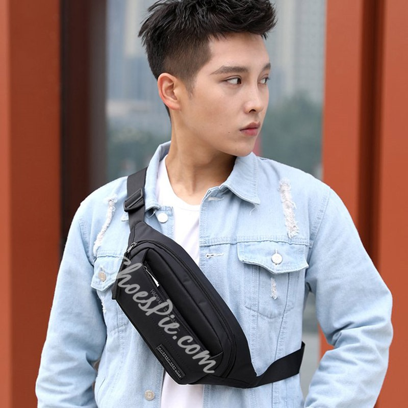 Shoespie Nylon Men Print Waist Men's Bag
