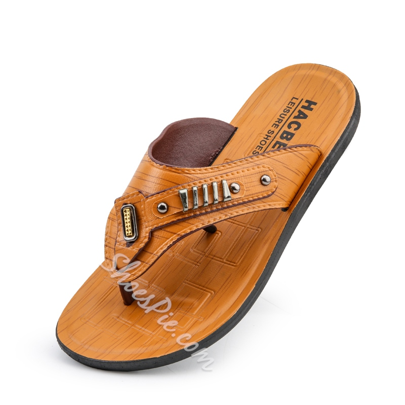 Shoespie Men's Casual Summer Flip Flops