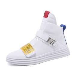 Shoespie Velcro Men's Casual High Top Skate Shoes
