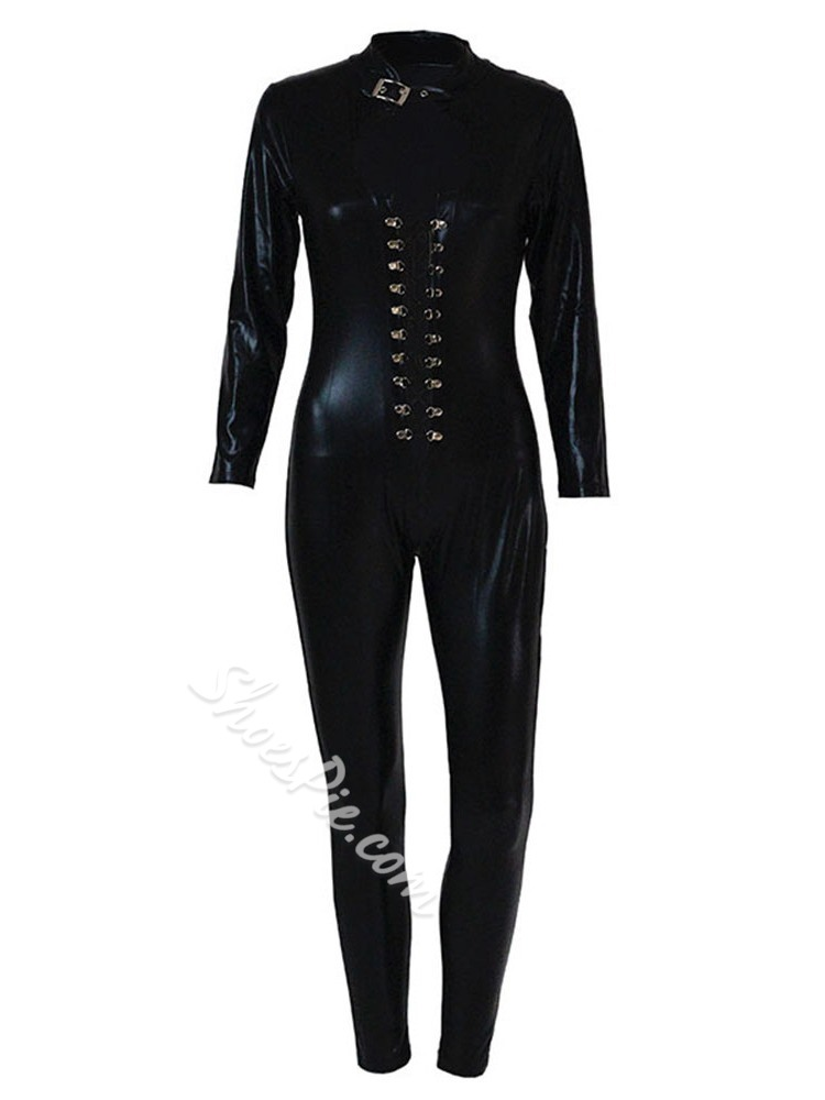 Halloween Costume Plain Ankle Length Skinny Women's Jumpsuit