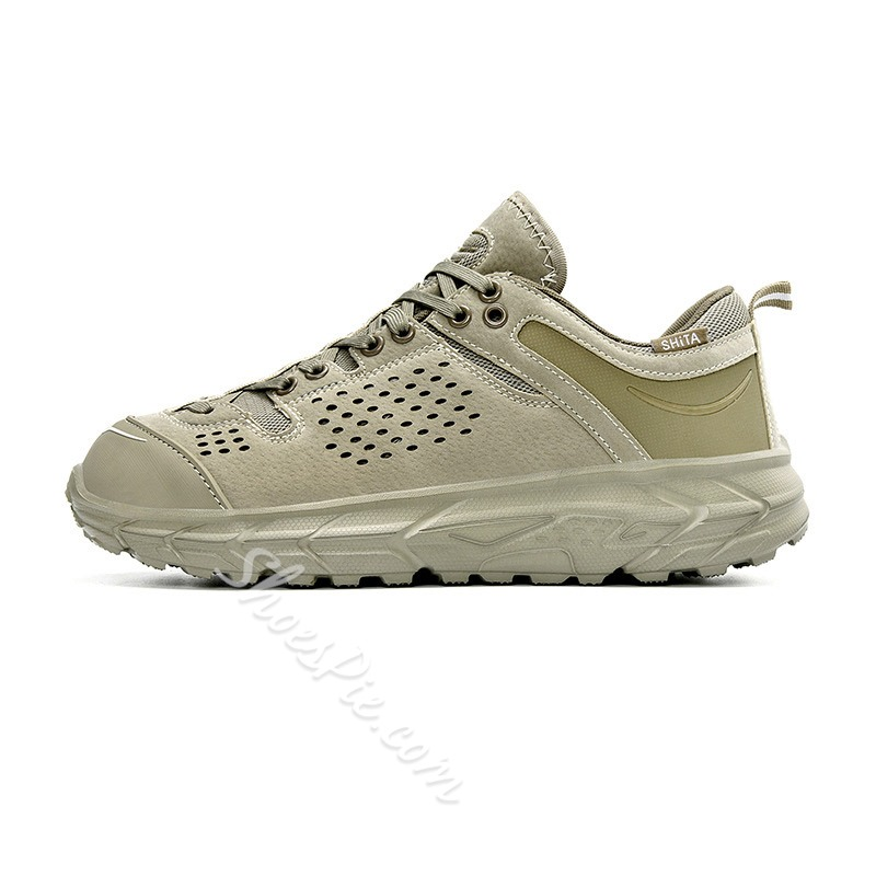 Shoespie Men's Sports Lace-Up Round Toe Casual Sneakers