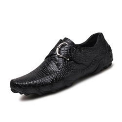 Shoespie Plain Flat Men's Buckle Loafers